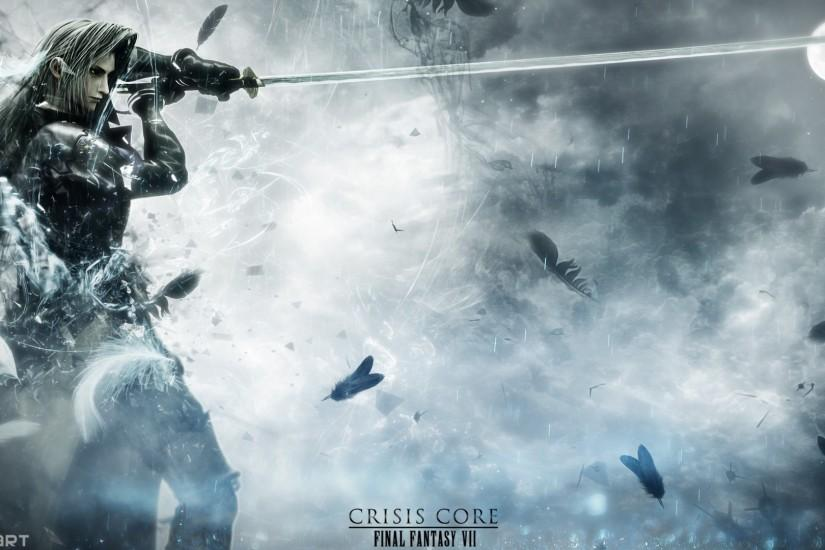 Crisis Core Final Fantasy VII Sephiroth Wallpaper by DanteArtWallpapers