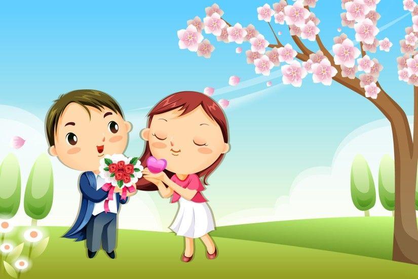Love Cartoon Wallpaper ① Inspiration Love Cartoon Picture Hd