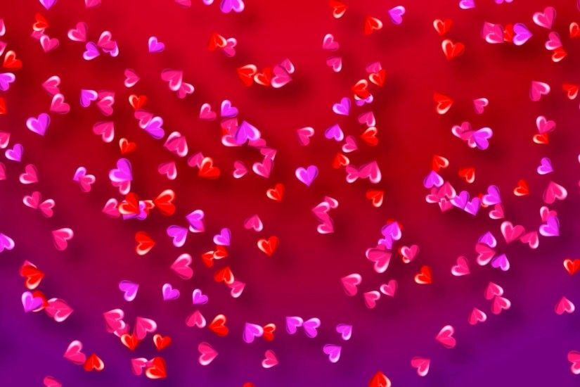 Colorful Hearts Background Webm
