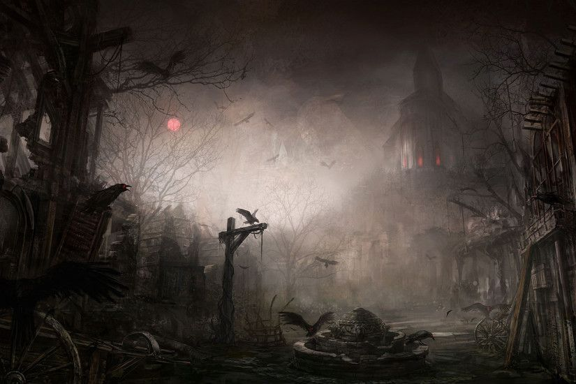 Diablo 3 Dark City Desktop Background. Download 1920x1080 ...