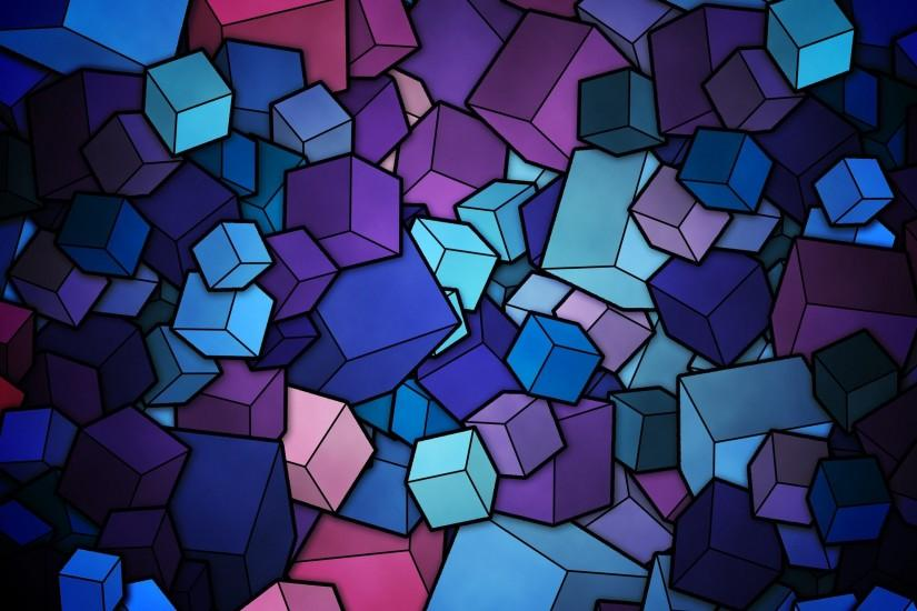Cubes Vector Art Background Wallpaper
