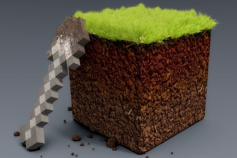 3D Grass Soil And Cement Blocks Wallpaper | HD 3D and Abstract Wallpaper  Free Download ...