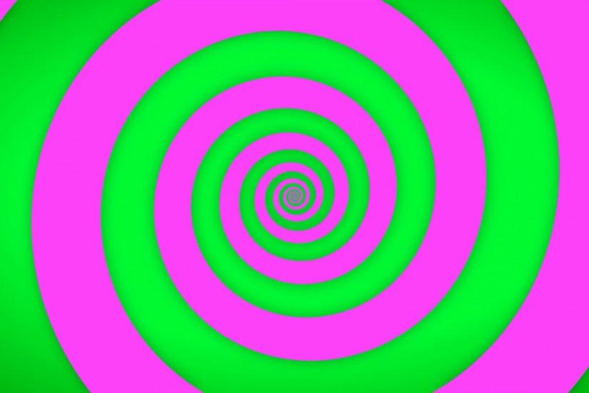 Hypnotic green and pink spiral background Motion Background - VideoBlocks