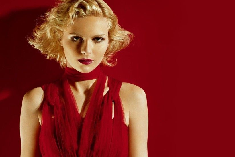 Kirsten Dunst Red Blonde Wallpaper | Customity