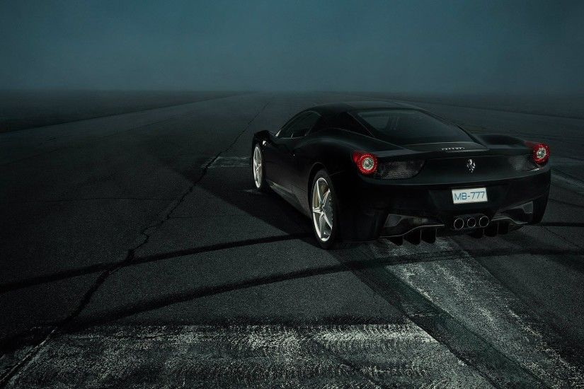 Ferrari 458, Car, Ferrari, Black, Night Wallpapers HD / Desktop and Mobile  Backgrounds