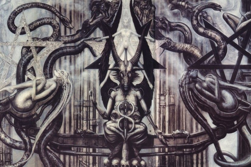 H R Giger Art Artwork Dark Evil Artistic Horror Fantasy Occult Satan  Satanic Evil Wallpaper At Dark Wallpapers
