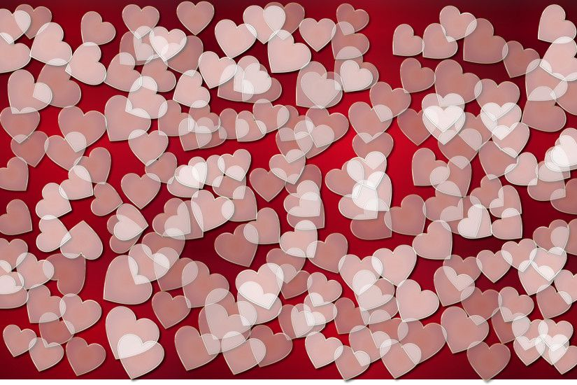 Translucent Hearts Background 3