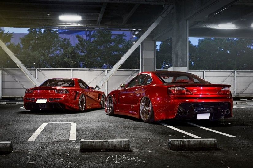 nissan silvia s15 mazda rx-7 tuning red car rx7 tuning