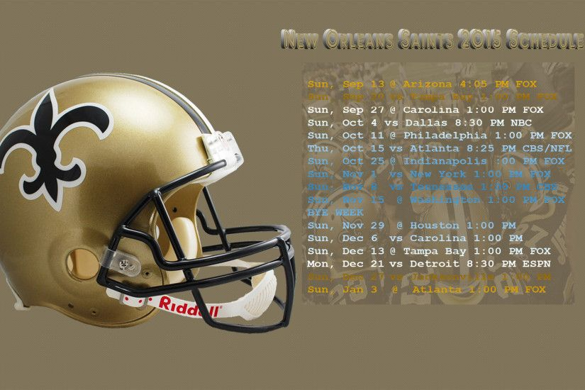 Saints Schedule