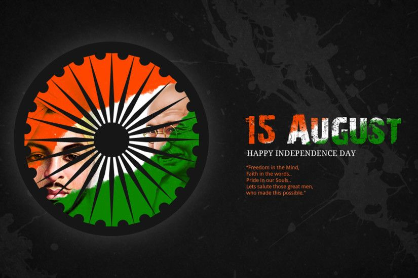15 August Happy Independence Day 4K
