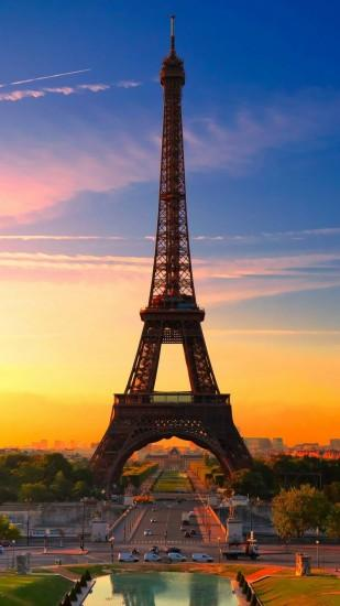 Eiffel Tower Paris Sunrise Android Wallpaper ...