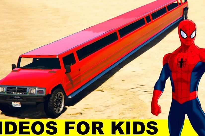 LONG CARS with SPIDERMAN Cartoon for Kids and Nursery Rhymes Songs for  Children - YouTube