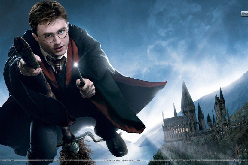 "You are viewing wallpaper titled ""Daniel Radcliffe Flying in Harry ..."