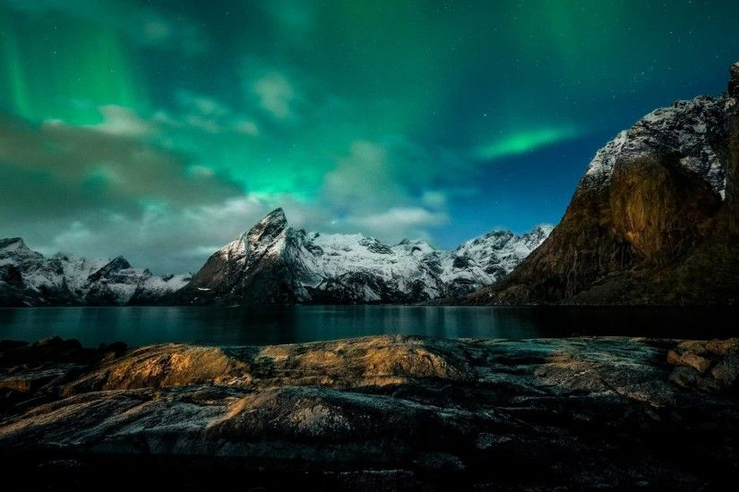 1920x1200 Norway Northern Lights Wallpaper HD Free Download