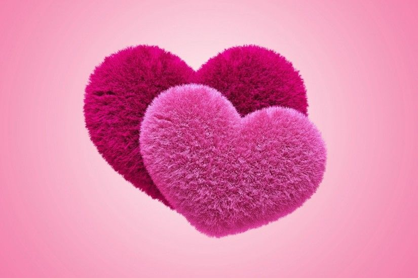 background plush fluffy pink heart
