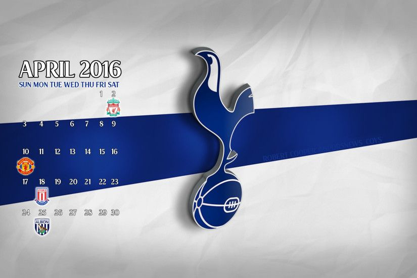 My poor attempt at a spurs fixture calendar wallpaper ...