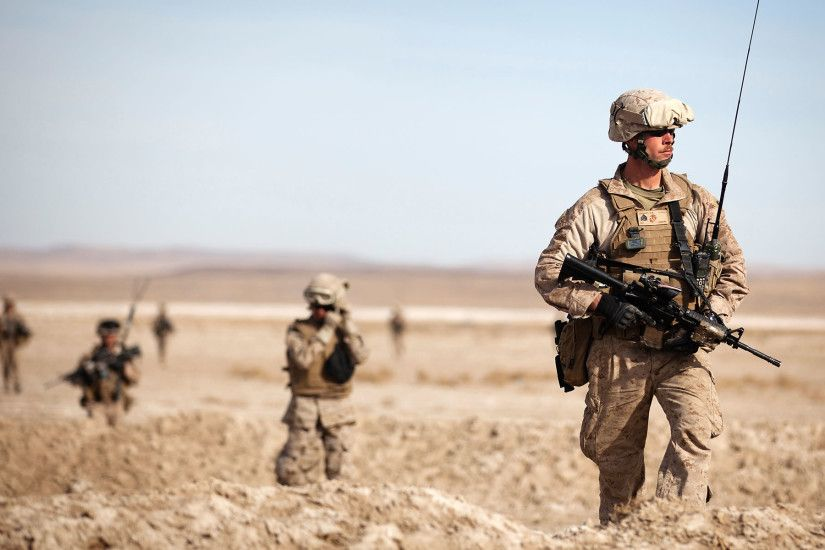 US Marines on Patrol