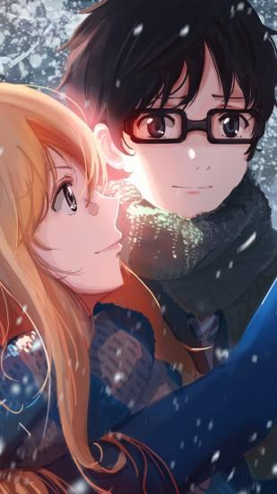 free your lie in april wallpaper 1440x2560
