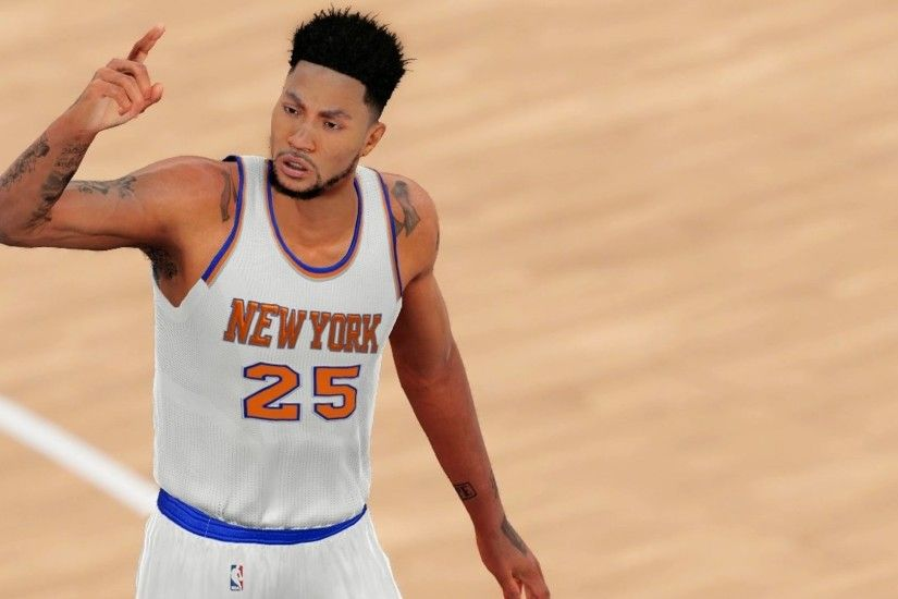 Derrick Rose Traded to the New York Knicks | NBA 2k16 - Knicks vs Cavaliers  (1080p 60fps) - YouTube