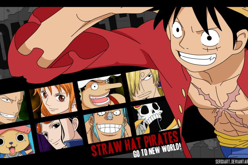 ... Straw Hat Pirates - Go to the New World by SergiART