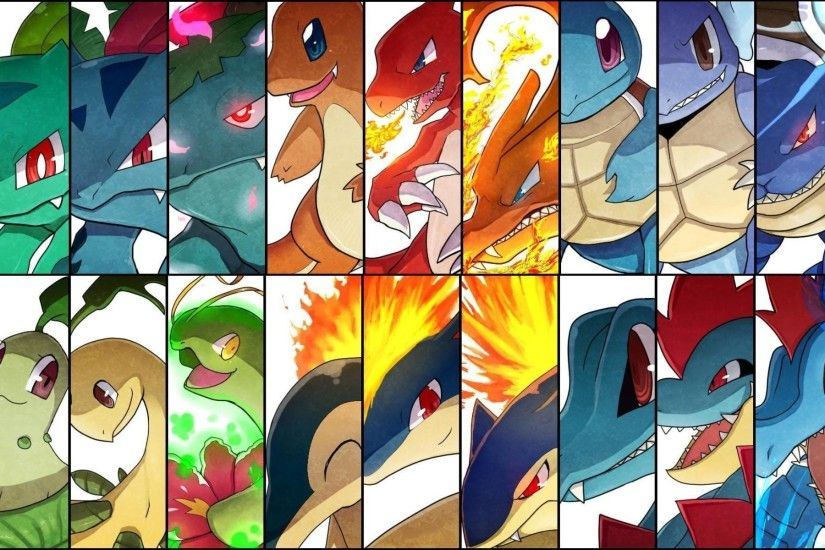 Pokemon Starters - Pokemon Wallpaper (1920x1200) (14739)