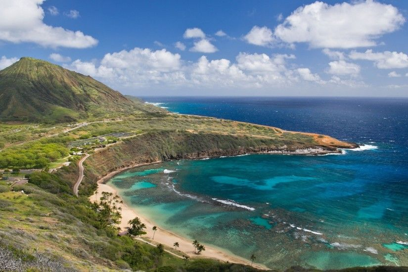 Preview wallpaper hanauma bay, oahu island, hawai, oahu, hawaii, mountain,