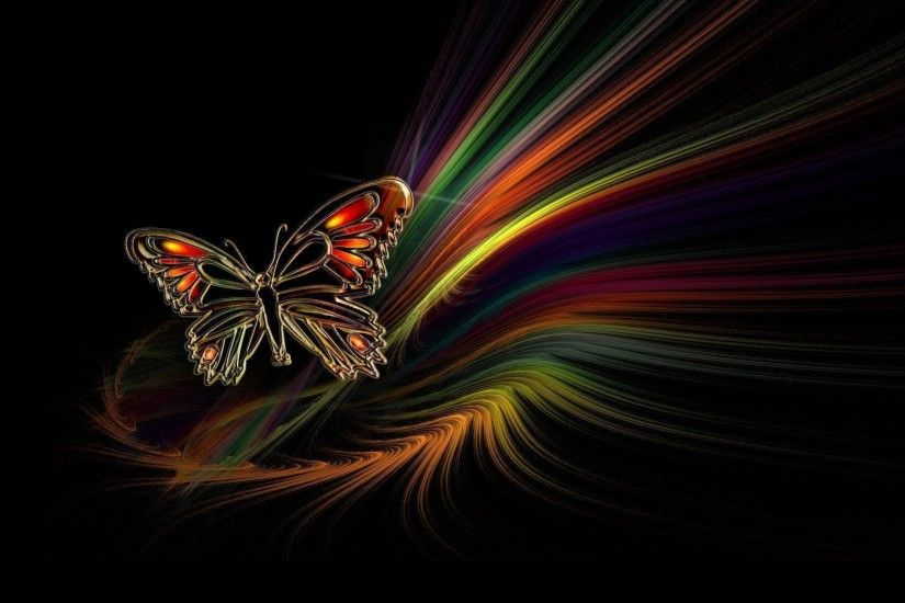 Beautiful Butterfly Abstract HD Wallpaper For Desktop Backgrounds .
