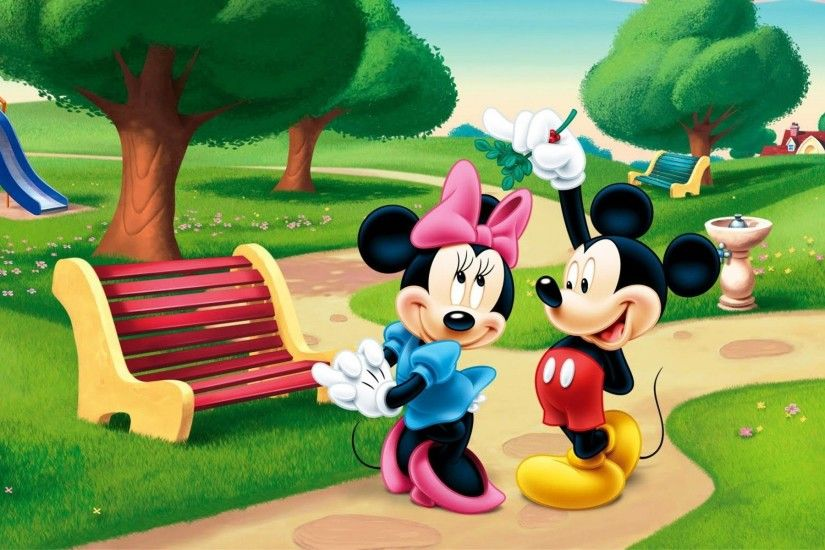 Wallpapers For > Minnie Mouse And Mickey Mouse Wallpaper