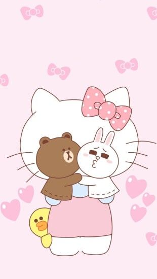 Friends Wallpaper, Line Friends, Phone Wallpapers, Hello Kitty, Wallpapers,  Paper, Wall Papers, Paint, Wallpaper For Phone