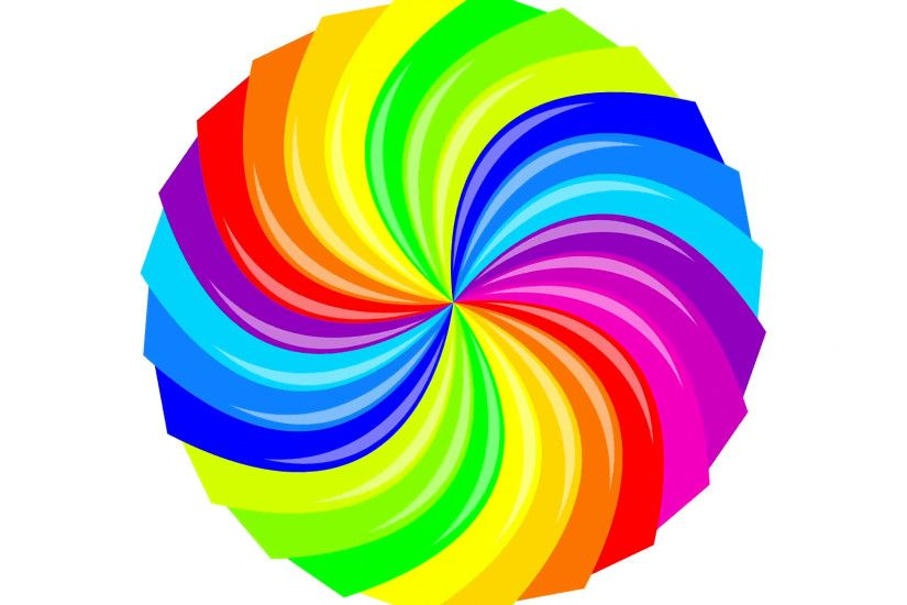 Colorful background rainbow that rotating spiral. 2d animation