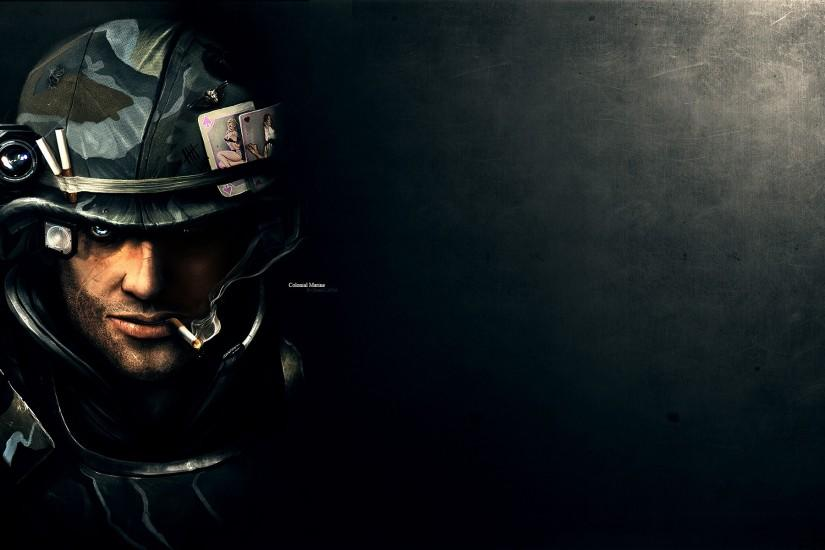 wallpaper portrait soldier monitor wallpapers 1920x1200