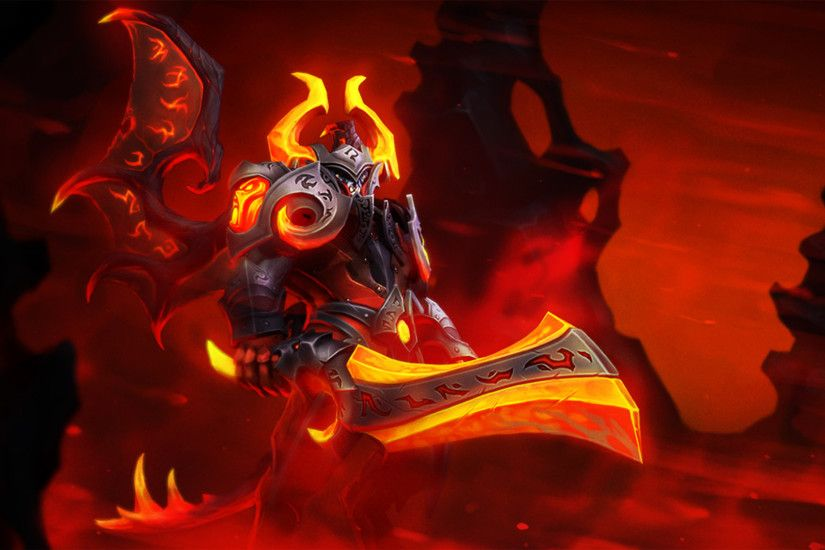 eternal fire lucifer the doom dota 2 hero