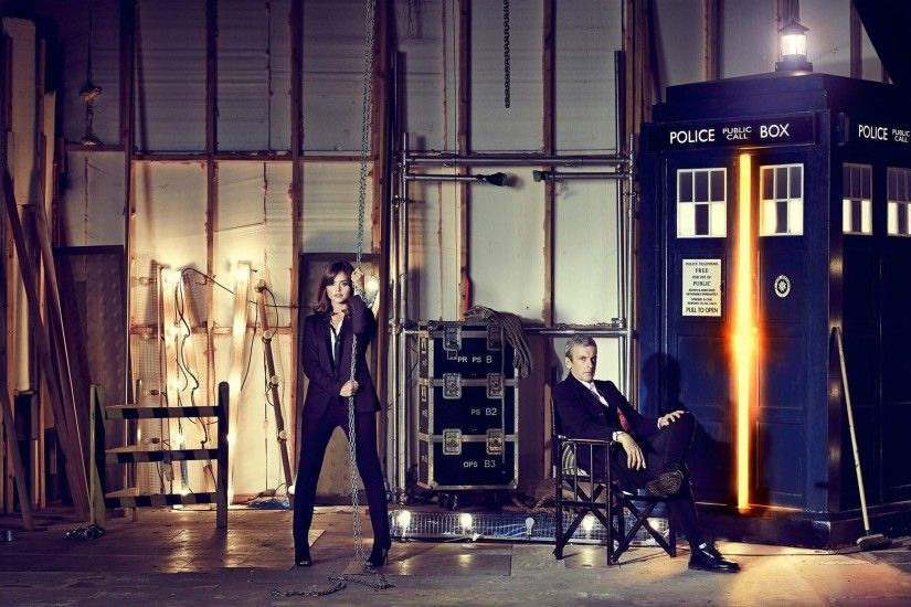 The Doctor, Doctor Who, Peter Capaldi, TARDIS, Jenna Coleman Wallpapers HD  / Desktop and Mobile Backgrounds