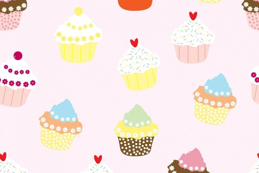 Cupcakes Wallpaper Pattern