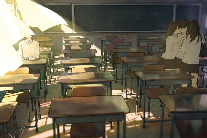 classroom, Anime, Original Characters, School Uniform Wallpapers HD /  Desktop and Mobile Backgrounds