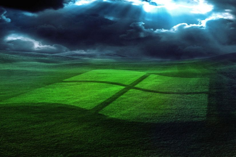 Preview wallpaper windows, field, grass, operating system 1920x1080