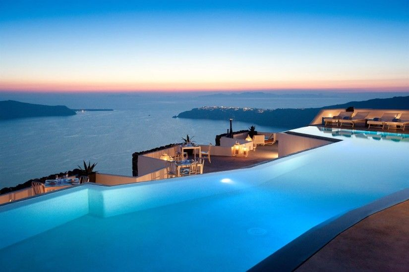 Download Awesome Santorini Greece Wallpaper Europe Resort City Greece beach  destination South Aegean luxury resort