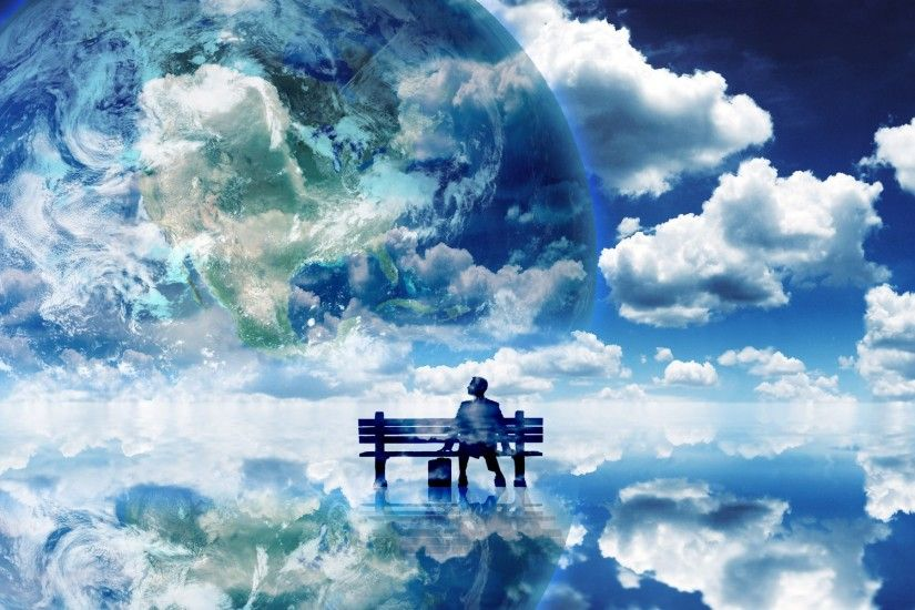 Blue Skies Clouds Earth Landscapes Nature Planets Skyscapes Surreal Thinking