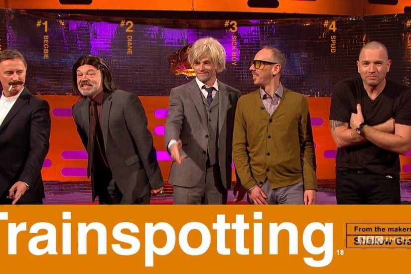 The 'Trainspotting' Cast Recreates Film's Iconic Poster… with Graham Norton  | The Graham Norton Show | BBC America