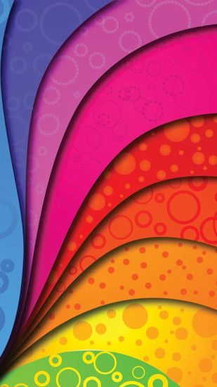 Colorful Swirl Htc One M8 wallpaper