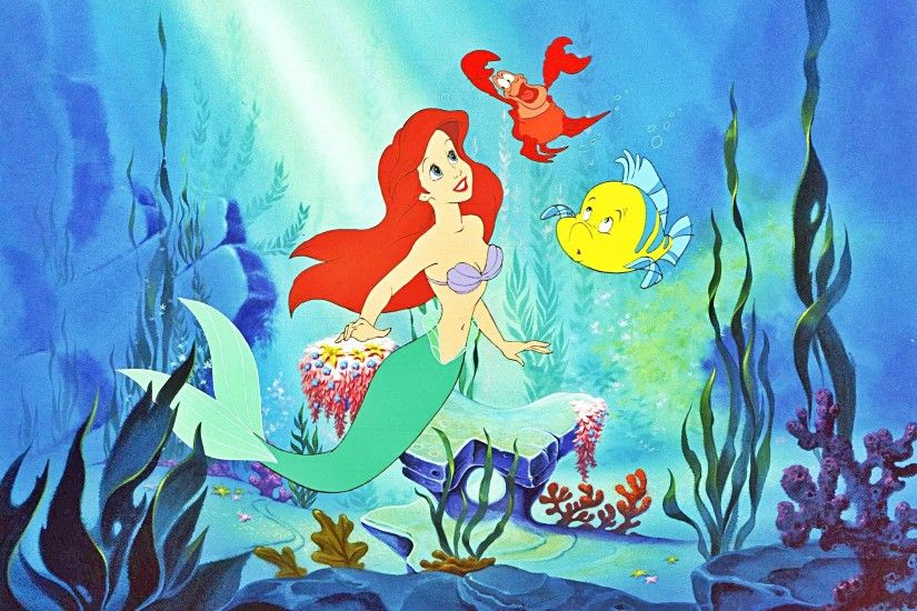 "Walt Disney Production Cel of Princess Ariel, Sebastian and Flounder from  ""The Little Mermaid"" HD Wallpaper and background photos of Walt Disney  Production ..."