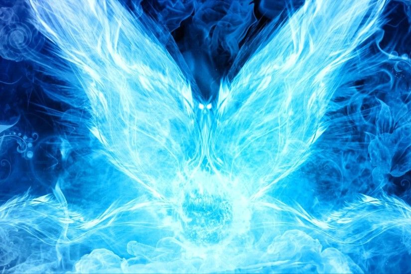 ... The bird of flames (Blue) by Justass