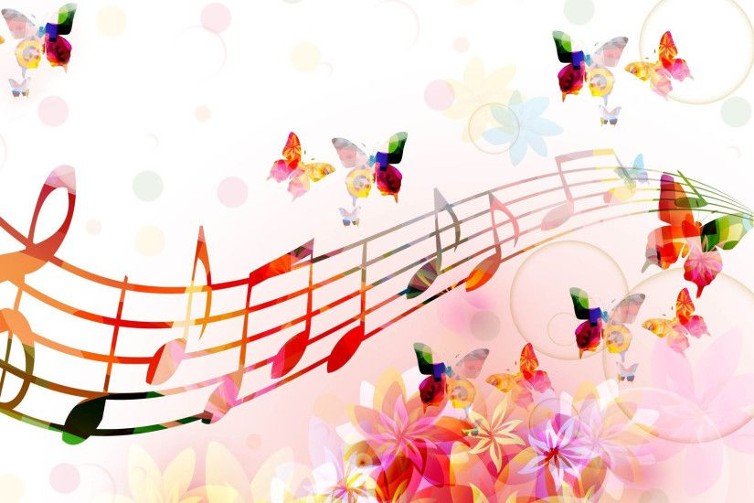 Music Abstract Backgrounds - WallpaperSafari Music Notes Wallpaper ...