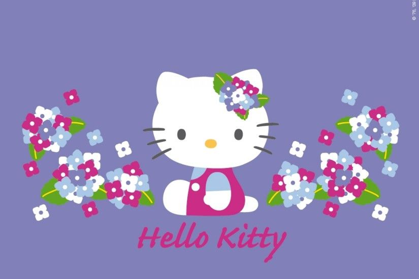 2560x1920 Awesome Hello Kitty Nerd Purple Wallpaper
