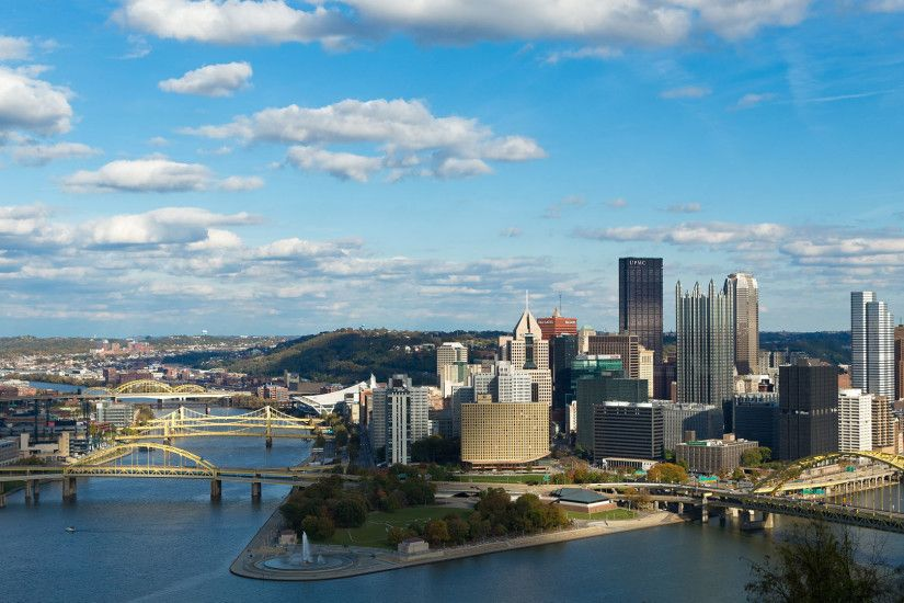 ... Pittsburgh urban wallpaper of a city skyline afternoon during the day  ...
