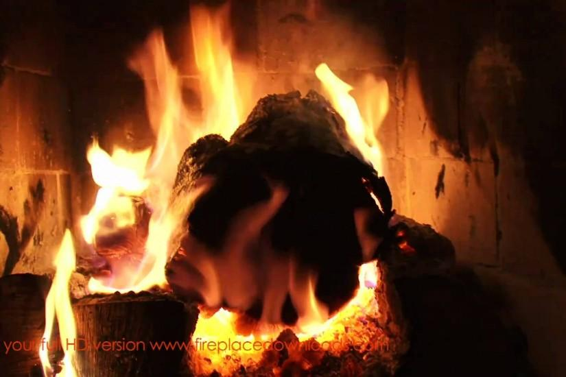 Virtual HD Fireplace video 1080p (Large Log fire) - Fireplace Downloads -  YouTube