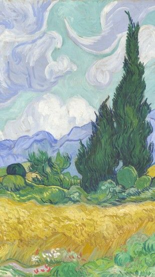 Billedresultat for van gogh wheatfield with cypresses mobile