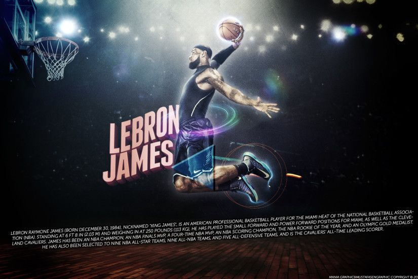 Wallpaper Lebron James Dunking