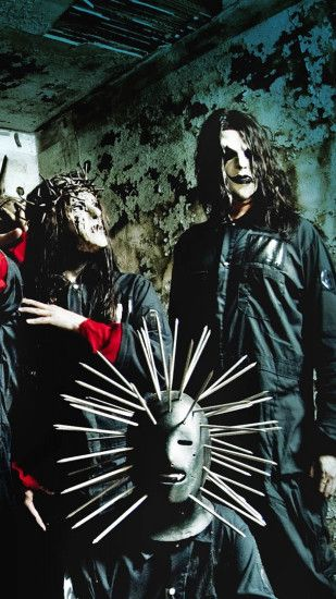 1440x2560 Wallpaper slipknot, masks, image, palm, room