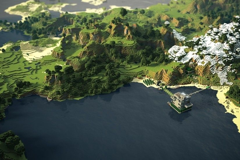 ... Minecraft wallpaper city small town overview ...